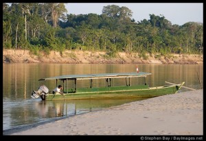 We took a boat just like this one to Reserva Amazonica.