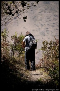 This is our guide, Narciso. Yes, I know it's a picture of his back, but I thought it was a beautiful photo.