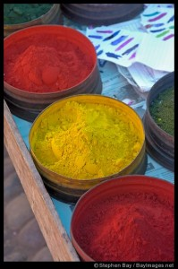 These are some of the bowls of beautiful pigments I saw at Pisac Market.