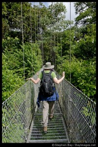 Me at the Arenal Hanging Bridges. Costa Rica.