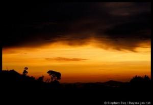 Sunset over Monteverde. Costa Rica.