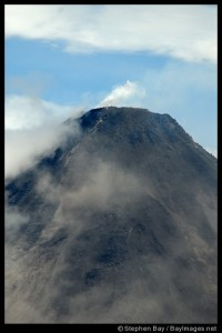 Close-up of volcano rim. Arenal Volcano, Costa Rica.