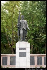Statue of Ahn Jung-geun. Namsan Park, Seoul, Korea.