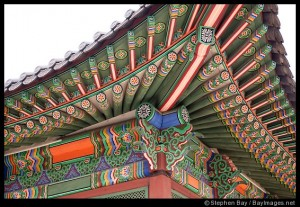 Painting detail of Deokhongjeon Hall at Deoksu Palace in Seoul, South Korea.