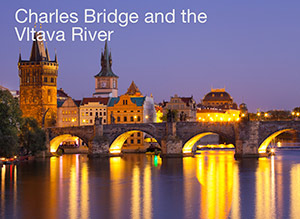 Charles Bridge and the Vltava River